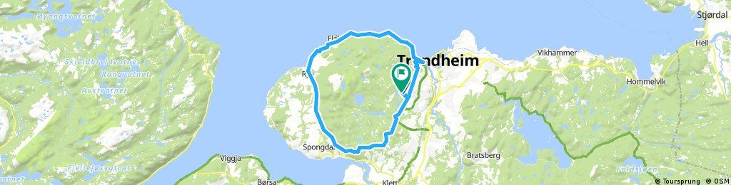 Lengthy bike tour through Trondheim