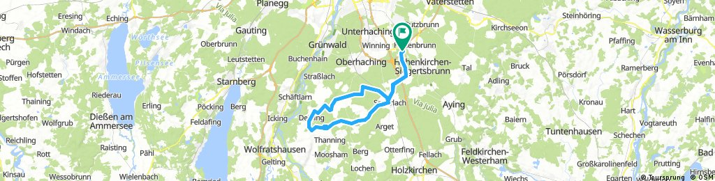 Lange Radrunde durch Brunnthal