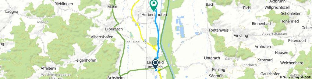 Schnelle Ausfahrt von Langweid am Lech nach Meitingen