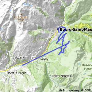 Cycling routes and bike maps in and around McotlaPlagne Bikemap