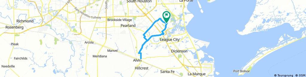 Long ride through Houston