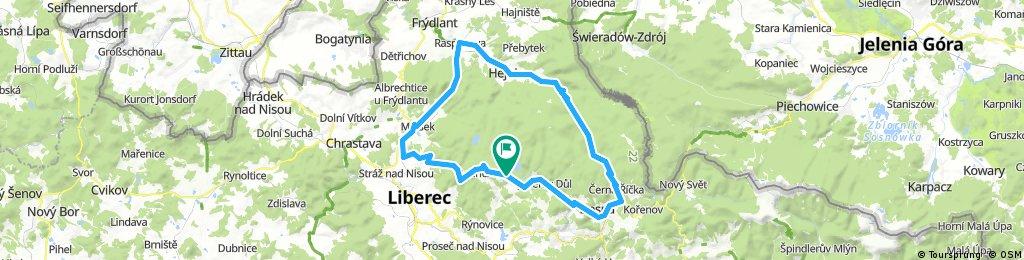 Long bike tour through Janov nad Nisou