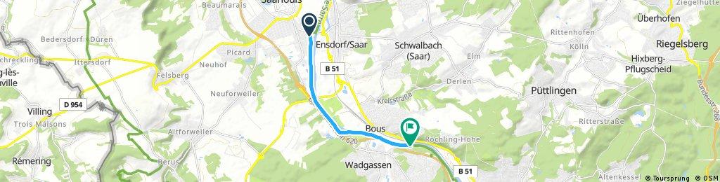 Schnelle Radrunde von Saarlouis nach Wadgassen