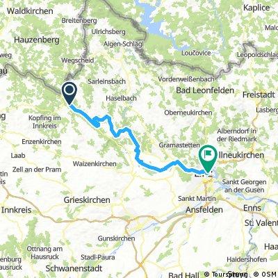 Donauradweg 2017 - Passau-Wien_2_Gasthof Luger zum Hotel Prielmayerhof in Linz