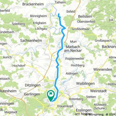 Stuttgart - Neckarwestheim - Stuttgart