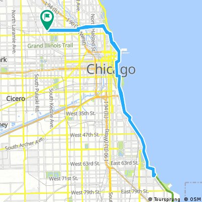 Oak Park Chicago Map.Cycling Routes And Bike Maps In And Around Oak Park Bikemap Your