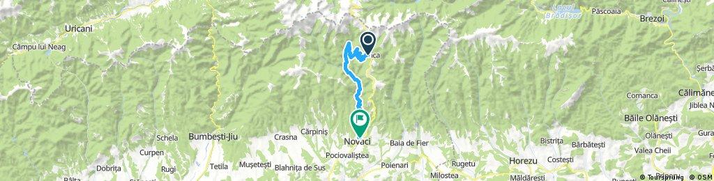 Ranca spre Novaci via Valea Gilortului - Drum inchis!
