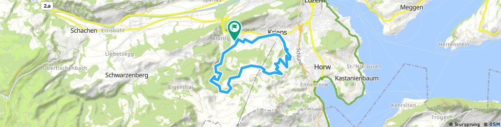 Obernau - Himmelrich- Standen - Obernau