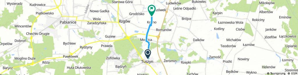 Short ride from Tuszyn to Rzgów