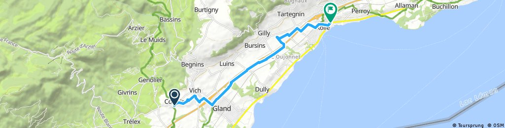 bike tour from Coinsins to Rolle