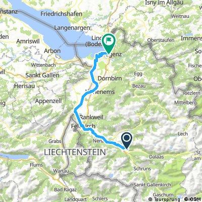von Bludenz nach Bregenz
