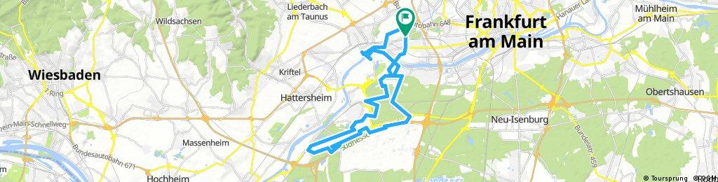 Lange Ausfahrt durch Frankfurt am Main