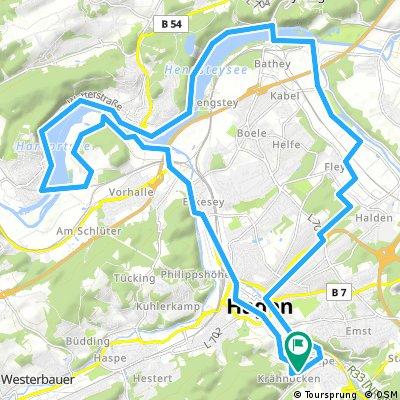 Lange Radrunde durch Hagen