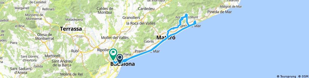 Lengthy bike tour through Santa Coloma de Gramenet