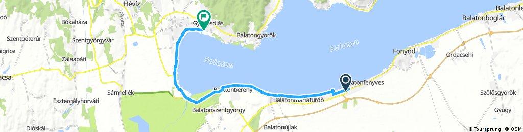 bike tour from Balatonfenyves to Gyenesdiás