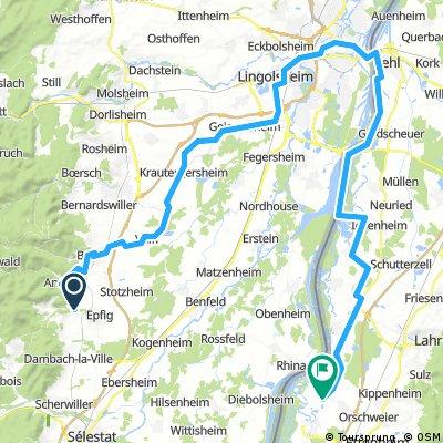 Elsassroute  über Strasbourg