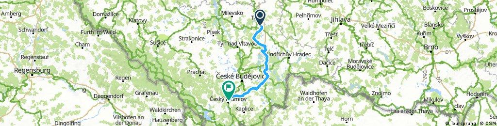 Dag 3 Maandag 23 July Tabor - Cesky Krumlov Camping Kemp Krumlov