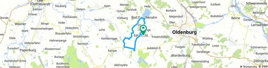 Edewecht-Süddorf-Ahrensdorf-Scheps-Bad Zw'ahn