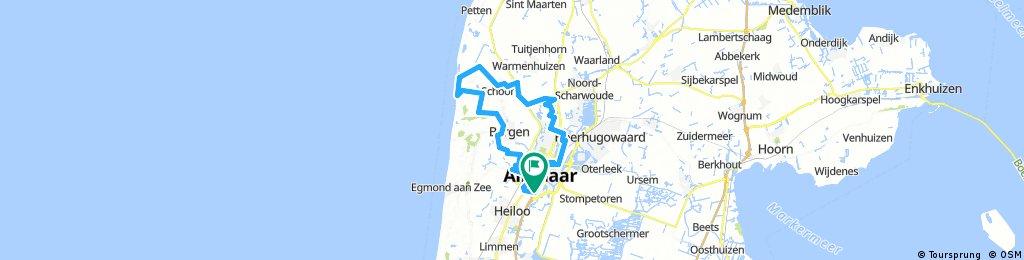 Door Alkmaar, Schoorl en Bergen (fietsroute: 116221) - route.nl