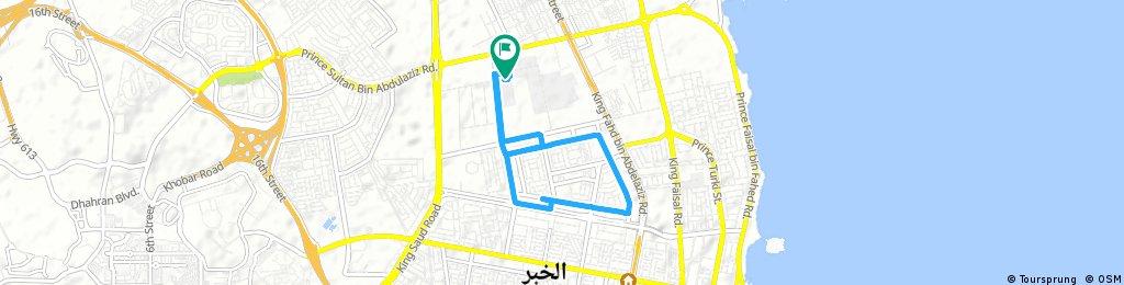 ride through Al Khubar