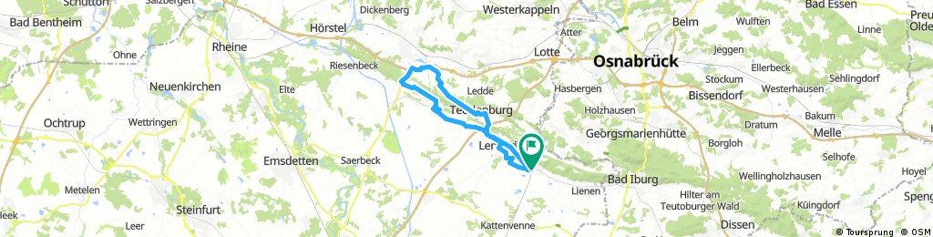 Abend Runde Tecklenburg-Ibbenburen-Brochterbeck-Klippen -Bocketal -Lengerich