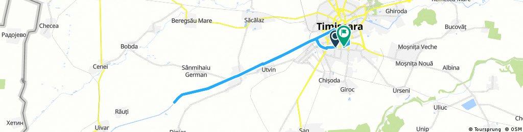 Long bike tour through Timișoara