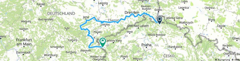 Liberec - Cheb Německem