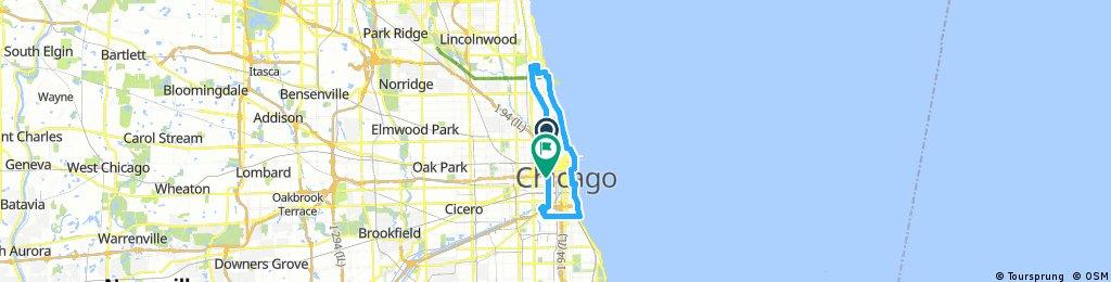 Lengthy bike tour through Chicago