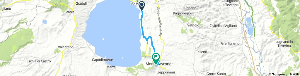 ride through Montefiascone