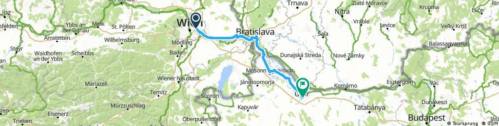 3-) wien to bratislava to Gyor