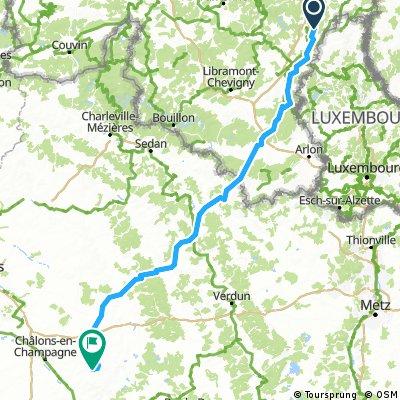 2. Etappe - Cuturu nach Chalons-en-Champagne