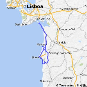 Cycling routes and bike maps in and around Setbal Bikemap Your