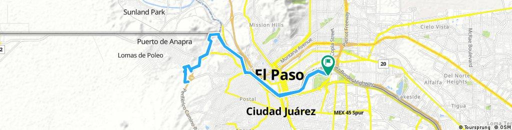 Carrera MTB 2017 -----, 30 Kms Juarez, Mexico.