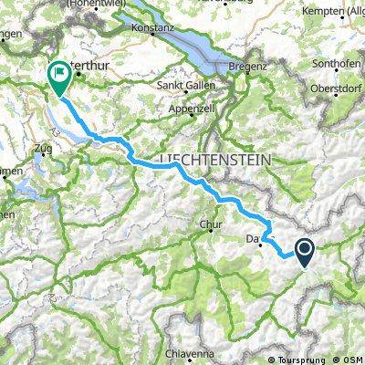 Zernez Dübendorf 184 km, 1490 HM