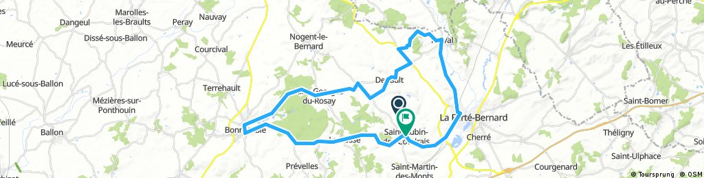 Lengthy bike tour from 25 juli 7:22 a.m.