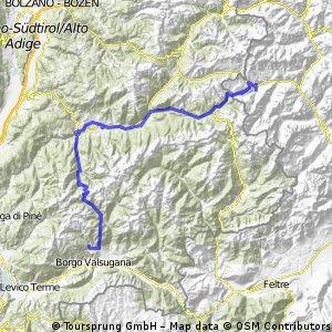 Italské Alpy 2008 - Trasa 2 (Falcade - Torcegno)