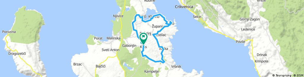 Long bike tour through Kras