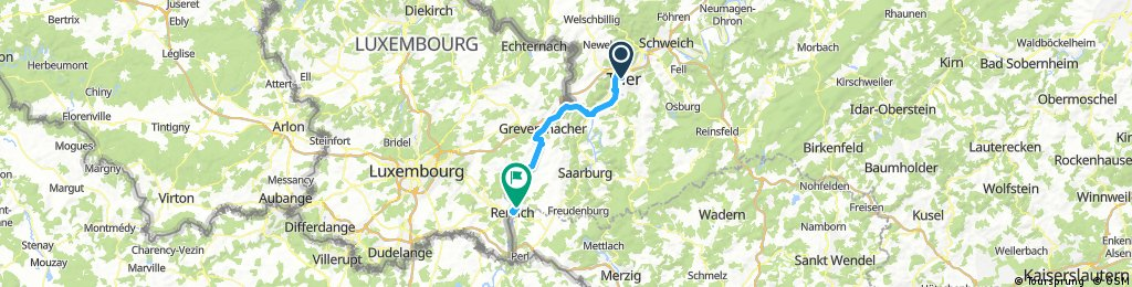 Mosel Radtour Trier nach Remich