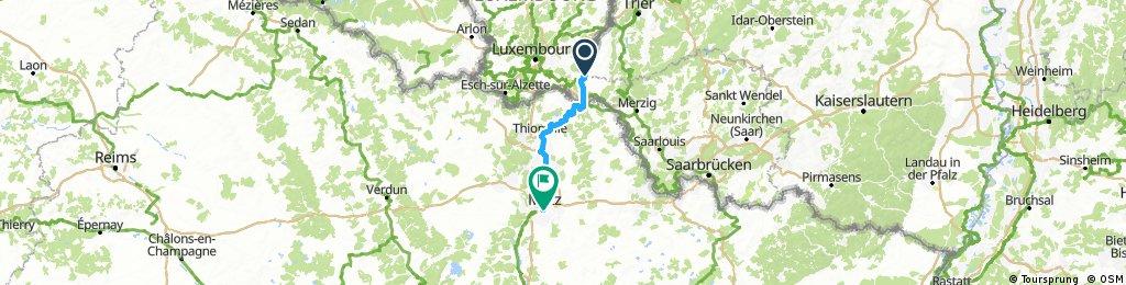 Mosel Radtour Remich nach Metz