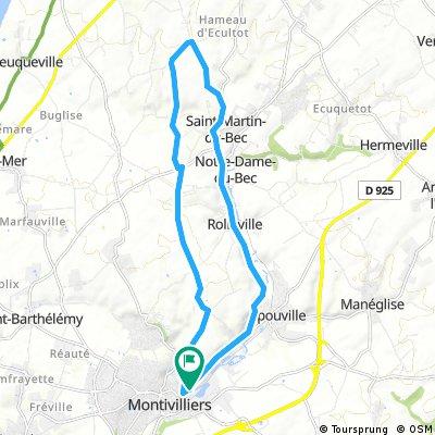ride through Montivilliers