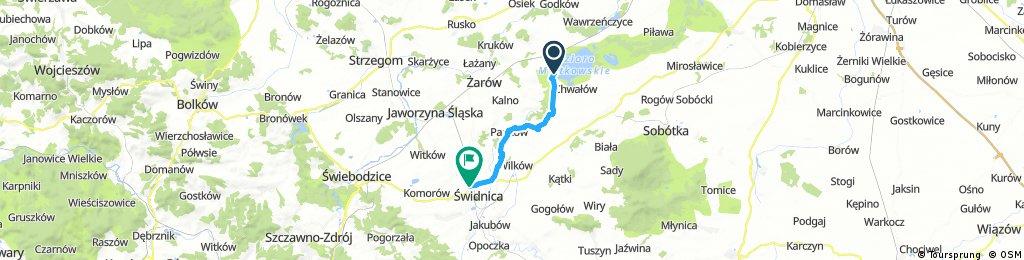 bike tour through Świdnica mietkow