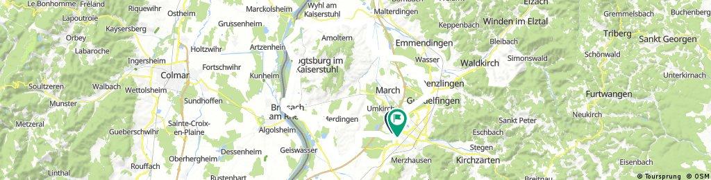 Freiburg - Endingen - Breisach - Freiburg