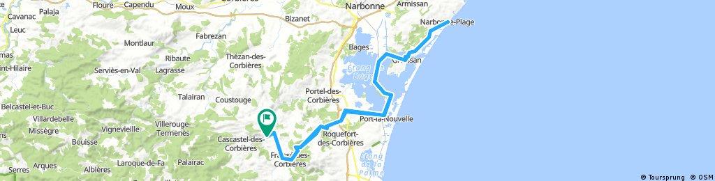 Durban-Corbières à Narbonne-Plage