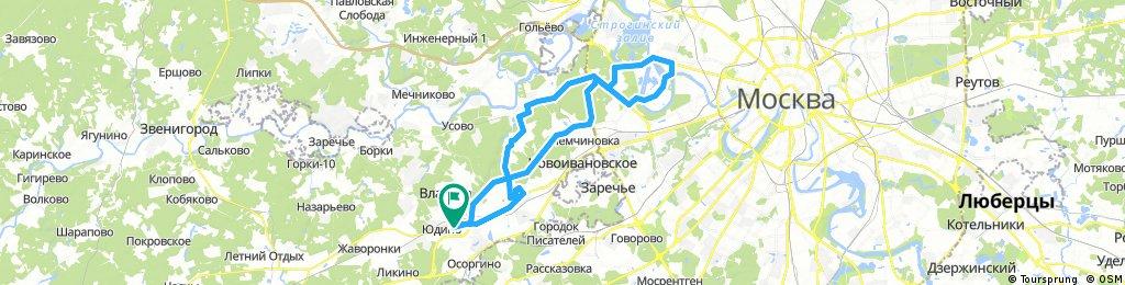 Lengthy bike tour through Odintsovo