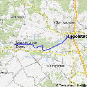 Cycling routes and bike maps in and around Ingolstadt Bikemap