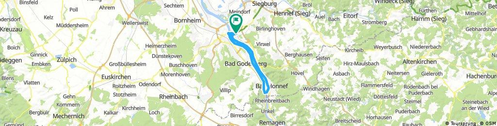 Rheinradweg Teil 1 Beuel - Rolandseck - Beuel