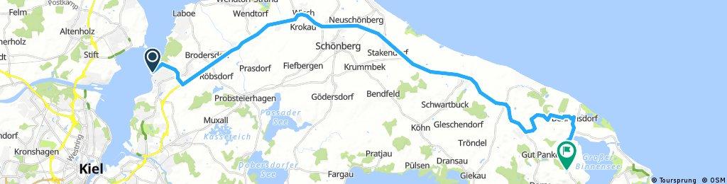 Lange Radrunde von Heikendorf nach Behrensdorf (Ostsee)