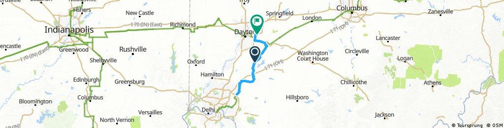 Lengthy ride from Corwin to Beavercreek