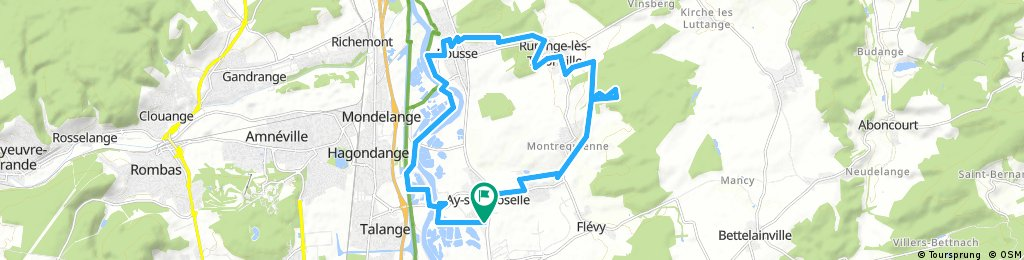 bike tour through Ay-sur-Moselle