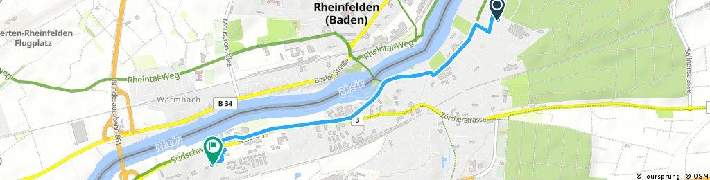 Schnelle Ausfahrt durch Rheinfelden